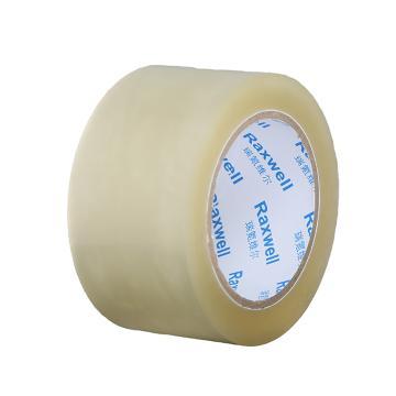 Raxwell BOPP普透封箱胶带,优质无气泡,宽*长*厚(mm*m*mm):48*50*0.048,单位:卷,72卷/箱