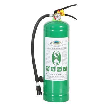 淮海 手提式水基型泡沫灭火器,3L,48*13cm,(绿瓶)