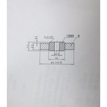 西域推荐 微型密封垫片(定制),0.6*4.1*0.8按图加工