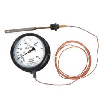 红旗 压力式温度计,WTZ-280 量程0-120度 精度1.5级 含国防资质校准证书