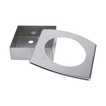伊莱科 微差压表安装盒,EM2000-5 方形 304材质 配套TE2000使用