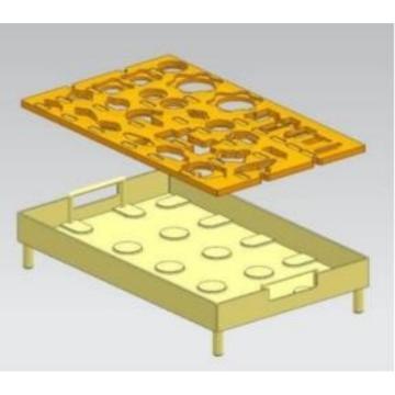 西域推荐 形迹板,ABS10001,410*310*70mm