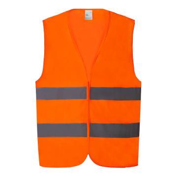 高警示安全背心,熒光橙,XXXL