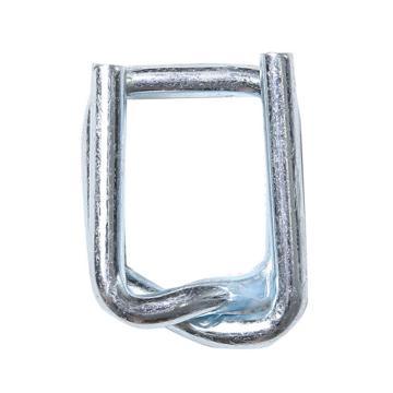 西域推薦 鋼絲打包扣,回形扣,纖維帶用,寬度:32mm,TB10(32mm),125個/箱
