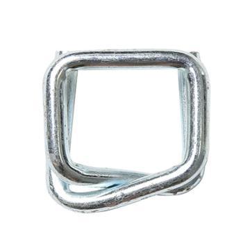西域推薦 鋼絲打包扣,回形扣,纖維帶用,寬度:25mm,TB8(6.0)(25mm),250個/箱