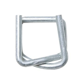 西域推薦 鋼絲打包扣,回形扣,纖維帶用,寬度:16mm,TB5(16mm),1000個/箱