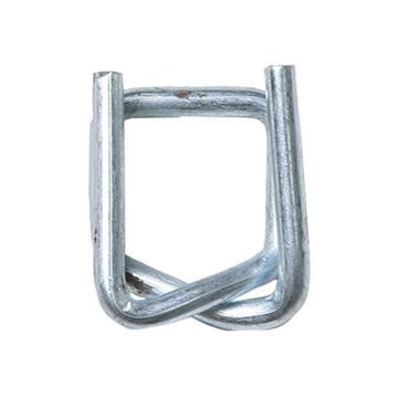 西域推薦 鋼絲打包扣,回形扣,纖維帶用,寬度:13mm,TB4(13mm),1000個/箱