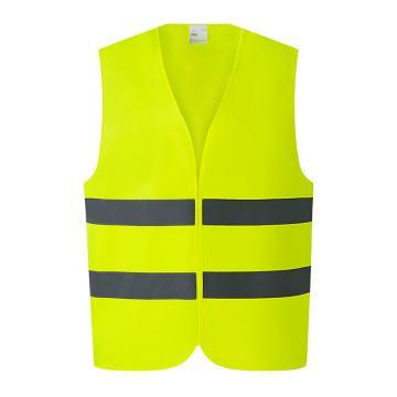 高警示安全背心,熒光黃,XL