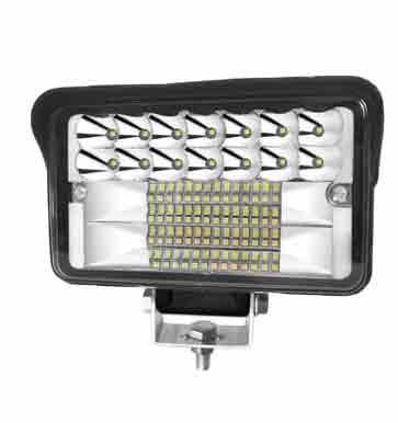 音笛 貨車射燈12V24V汽車超亮倒車燈工程鏟叉車前大燈改裝霧燈強光,專利升級4寸大視野,單位:個