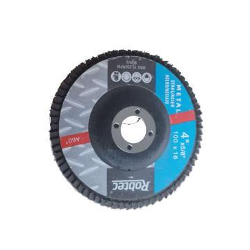 Robtec 煅燒剛玉百頁輪,100*16mm,80#