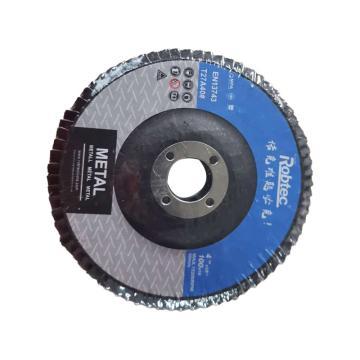 Robtec 煅燒剛玉百頁輪,100*16mm,40#,200片/箱