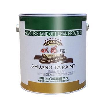 双塔 醇酸调和漆,中绿,国标色卡图号:GSB05-1426-2001 32 G04,3.5KG/桶