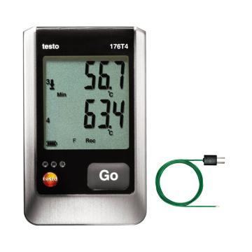 德图/testo 176 T4温度记录仪套装,0572 1764+0602 0646
