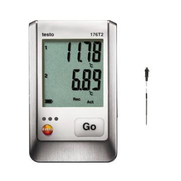 德圖/testo 176 T2溫度記錄儀套裝,0572 1762+0572 7001