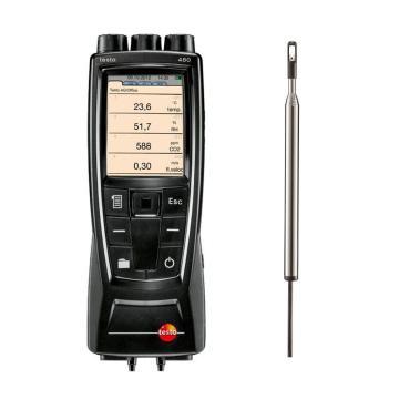 德圖/testo 480多功能測量儀配熱線式風速探頭套裝,0563 4800+0635 1024