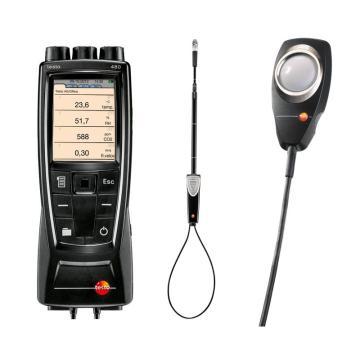 德圖/testo 480多功能測量儀配風速和照度探頭套裝,0563 4800+0635 9542+0635 0543