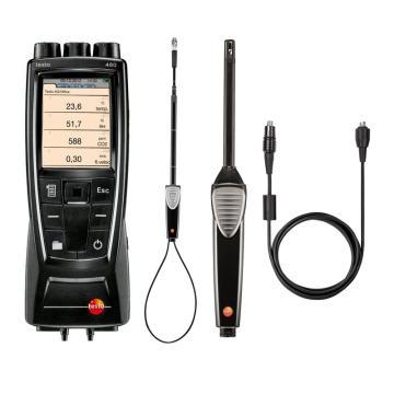 德圖/testo 480多功能測量儀配風速和溫濕度探頭套裝,0563 4800+0635 9542+0636 9743+0430 0100