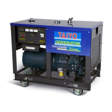 大洋TAIYO 柴油發電機,16.0KW,220V,TDK22000E