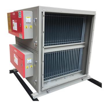 九洲普惠 川湘菜低排靜電式油煙凈化器,PF-JD-20,220V,480W,除煙效率97%。含木架包裝