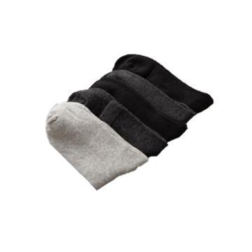 西域推荐 袜子,51%棉袜子男 耐磨 粗线袜中筒袜棉袜,24-26cm,10双/包