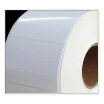 西域推薦 白色PET標簽紙,80*96mm 豎版 帶K線 500張/卷