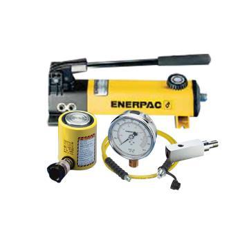 恩派克ENERPAC 薄型液压缸套件,20ton 45mm,RCS-201(含油缸+手动泵+软管+压力表+表座)