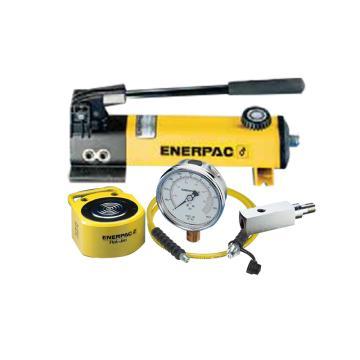 恩派克ENERPAC 超薄型液压缸套件,45ton 16mm,RSM-500(含油缸+手动泵+软管+压力表+表座)