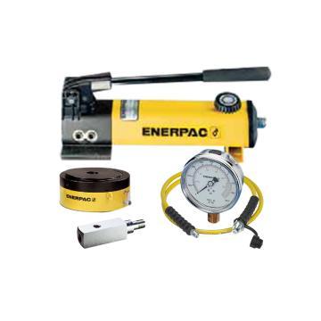 恩派克ENERPAC 单作用薄型螺母锁紧液压油缸套件,60ton 50mm,CLP602(含油缸+泵+软管+表+表座)