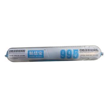 粘結寶 中性硅酮結構膠,995,590ml/支,灰色,20支/箱