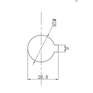 西域推薦 皮帶輪銑鍵槽,20.8mm