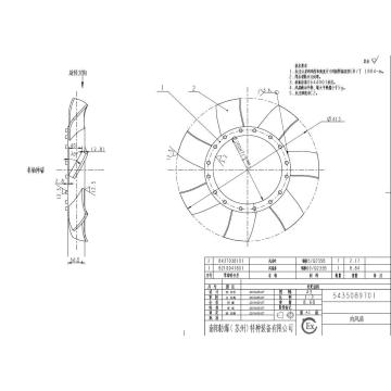 南陽防爆 大型高壓防爆電機風扇組,FT35-11-9(1組3個)