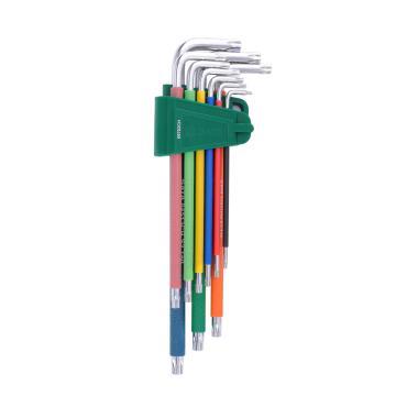 世達SATA 彩虹系列特長內六角扳手套裝,9件套,09103CH