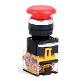 西域推薦 按鈕開關,LA38一組常開一組常閉;帶自鎖;蘑菇頭紅色