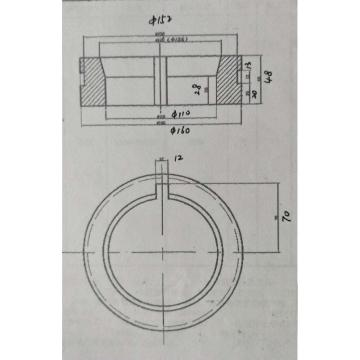 西域推薦 爐口圈,內徑:110mm 外徑:160mm 外槽直徑:152mm 高:48mm