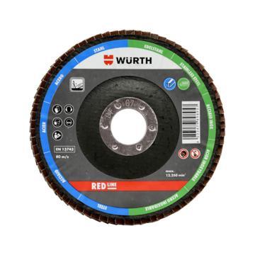 伍尔特WURTH,0579580524,百叶碟-氧化铝砂布-平形-G40-D125MM