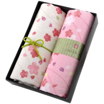 内野 和风古系列2条装面巾礼盒套装,Y10338-N 22*16*5.5cm 随机色 单位:盒