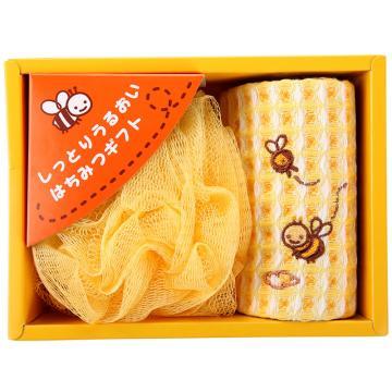 内野 小蜜蜂2件套毛巾礼盒,R5450 18*13.5*6cm 单位:盒