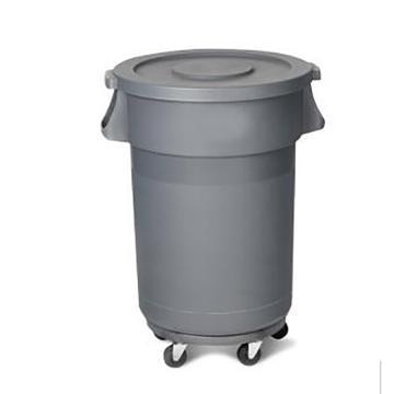 西域推薦 帶輪垃圾桶,120L 單位:個