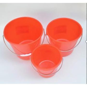 西域推薦 小紅塑料桶,帶蓋1.5L 單位:個