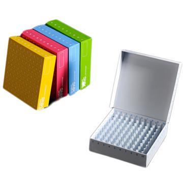 凍存盒,紙盒,81孔,混色,5個/盒,4盒/箱