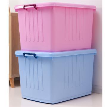西域推薦 藍色整理箱(帶蓋),外尺寸:79*57*48cm,容積:250L,載重:40KG,僅限華東地區銷售