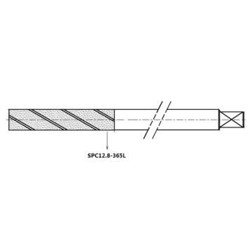 興和一 金剛石平底砂輪棒,SPC12.8-365L