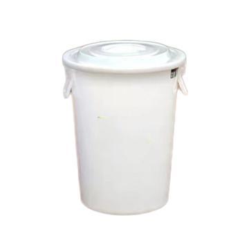 垃圾桶,白色带盖,40L,上口直径40cm,下底直径30cm,高52cm