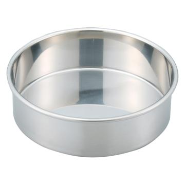 西域推荐 不锈钢标准筛子用托盘,内径φ200mm (1个) 6-578-37