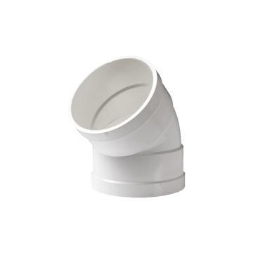 联塑 45°弯头PVC-U排水配件白色 dn110
