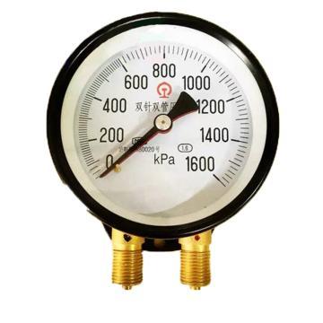 8113820奥特 双针双管表,YZS-100 0-0.1MPa M20*1.5 -40~70℃ 2.5级