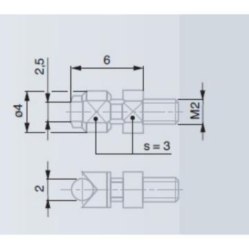 TESA 测量头加长杆(附带检测证书),03540506 L=15