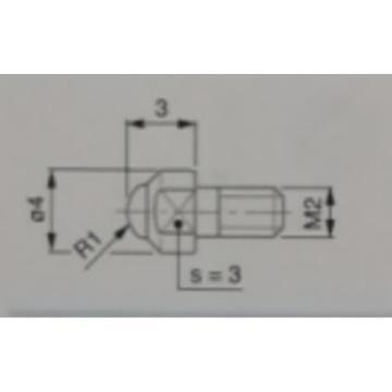 TESA 球形测量头(附带检测证书),03510204 R1