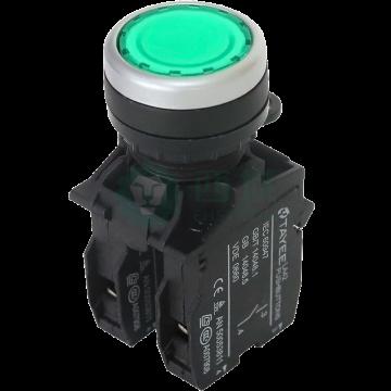 天逸TAYEE LA42系列按鈕,LA42PS-10/G綠色