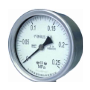 布莱迪 压力表(含客户厂内检测),φ40 0-1MPa 精度等级1.6 螺纹φ13 19扣 轴向